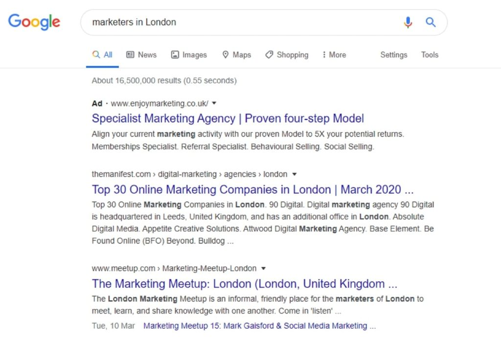To understand competition you can do a simple Google search to get results.