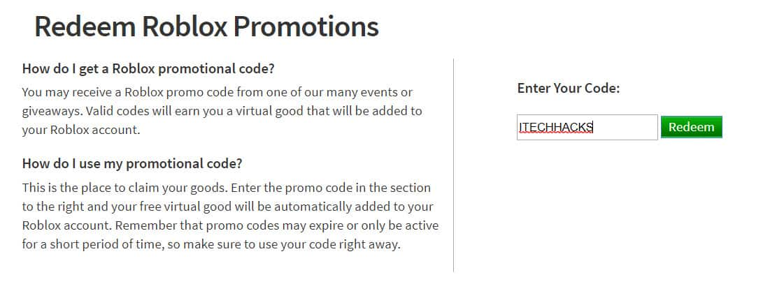 All Roblox Promo Codes for Robux List 2020