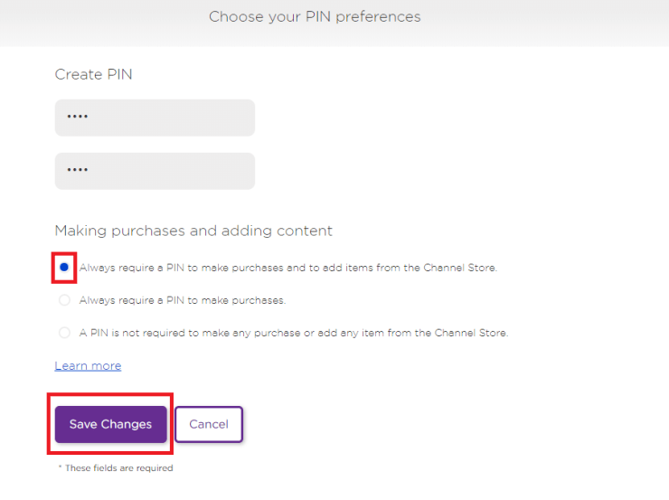 Click Save Changes