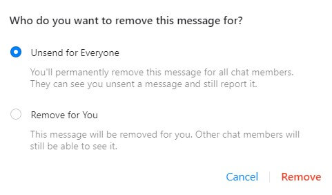 Delete Messages on Facebook Messenger