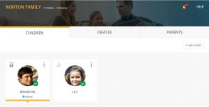 Norton Family parental control